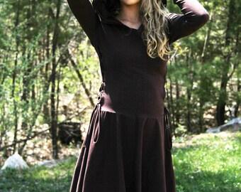 Dress / High Low Dress / Low High Dress / Hoodies for Women /Hoodies  /  Lace Up Dress / Casual Dresses