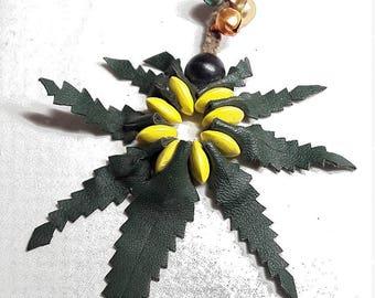 Canna leaf key holder