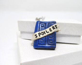 River Song Doctor Who Journal Necklace Dr who River song spoilers notebook jewelry spoilers doctor who gift tardis blue book jewelry