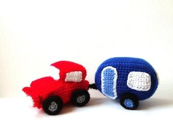 Crochet Trailer & Car Patterns Amigurumi Motor Home Pattern