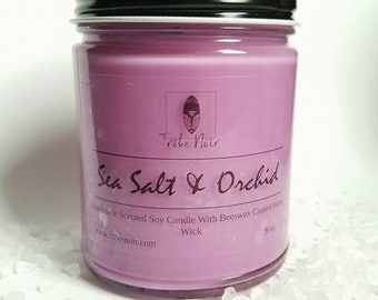 Sea Salt & Orchid, Spa Candles, Aromatherapy candles, Purple Candles, Cute candles, Container candles, Floral Candles, Spring candles