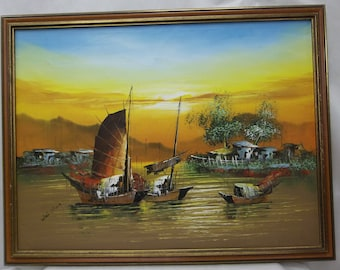Wai Ming Oil Painting on Canvas Signed