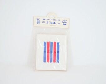 Tally Cards - Bridge