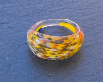 Ring entirely glass BAG.1012