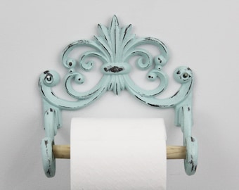 Cast Iron Toilet Paper Holder,Shabby Chic Bathroom Decor