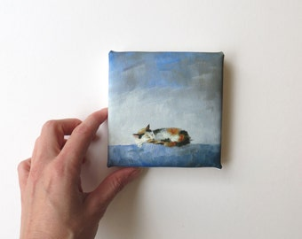 mini canvas print of a sleeping cat