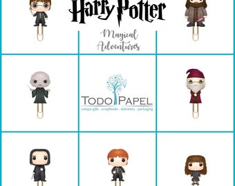 Harry Potter Planner Paper Clips. Magical Adventures Refrigerator Magnets. Bookmarks  for Erin Condren Planner, Filofax, Midori Planners