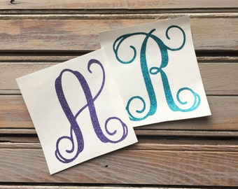 Single Inital Decal / One letter decal / One Initial Decal / Single monogram letter / One Monogram Letter