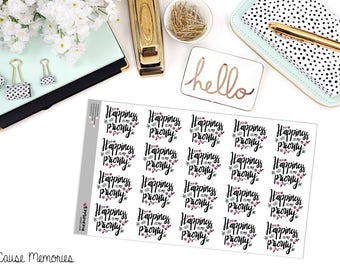 """MCM Mantras: """"Happiness is my Priority"""" Paper Planner Stickers"""