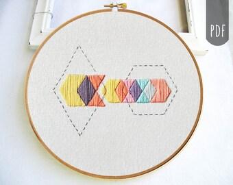 PDF Hand Embroidery Pattern Boho Geometric Arrow