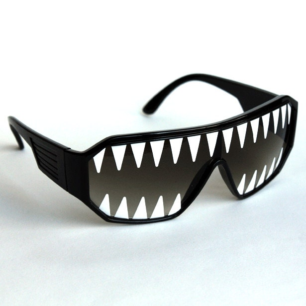 Rasslor Shark Teeth Shield Sunglasses