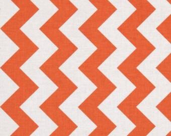 Orange Chevron Cotton Fabric 100% Cotton