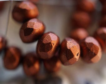 Metalic Sierra, Rondelle Beads, Czech Beads, Beads, N1695