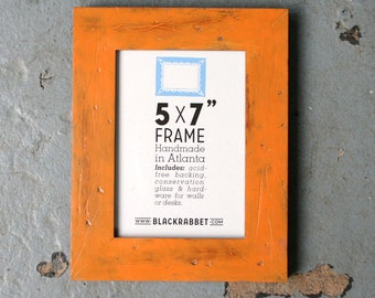Distressed Rustic Orange Picture Frame (5 x 7 in)
