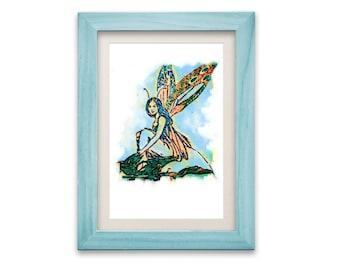 Fairy Art Print, Fairy Watercolor, Fairy Nursery, Fairy Painting, Fantasy Fairy Print