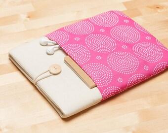 Galaxy Tab sleeve cover, Galaxy Note 10.1 case / Galaxy Tab E 9.6 / Galaxy Tab 4 / Galaxy Tab 3 7.0 / Galaxy Tab Pro 12.2 - Pink -