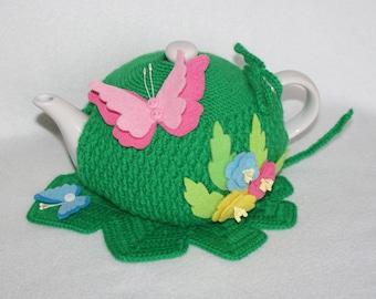 Green. Manual work.The tea cozy. Cozy kettle. Crochet. Knitted tea cozy. tea party. Tea Gifts .