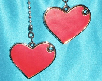 Set of Two ~ Adorable! Red Hearts ~ Ceiling Fan Pulls