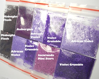 Purple Solvent Resistant Glitter x5 Sample Pack 15g