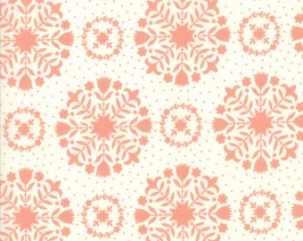 SPRING SALE - 4 Yards - 55141-13 - Handmade in Coral Pink - Bonnie and Camille for Moda Fabrics