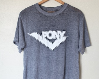 vintage PONY heathered gray t shirt