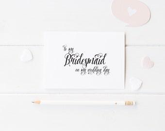 Bridesmaid Card, Maid of Honor Card, Flower Girl Card - Wedding Cards, Wedding Party Cards - Handmade Wedding Cards, Wedding Day WC01