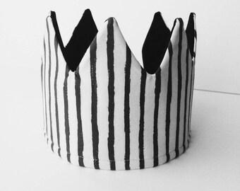Fabric Crown-Monochrome Stripes