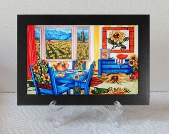 Framed Print, van Gogh Print, Vincent van Gogh, Sunflowers,  Sunflowers Print, Flowers Print, Handmade, Home decor