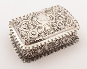 Edwardian Silver Trinket Box, Chester 1903
