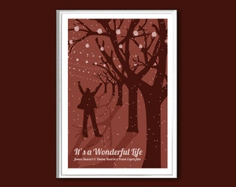 Movie poster It's a Wonderful Life retro print in various sizes