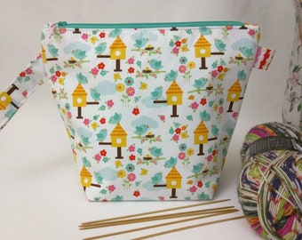 Sock Wedge Bag - Spring Bird Houses