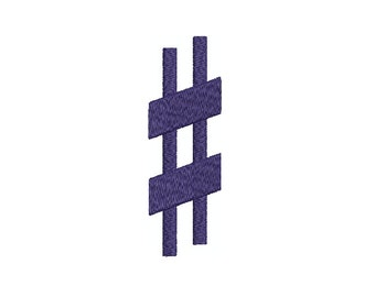 Machine Embroidery Design Instant Download - Music Sharp # Pound Sign hash tag