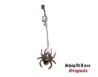 Along Came A Spider Belly Ring