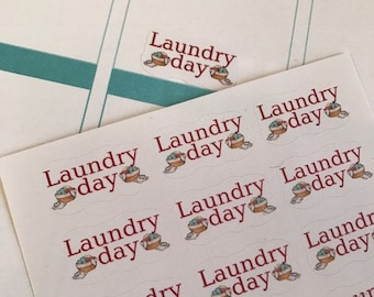 Laundry Planner Stickers, Fits Erin Condren Planner, Stickers, Reminder Stickers, Planner Stickers, Laundry Stickers, Wash Clothes