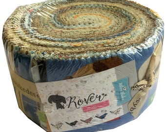 """SALE Fabric Riley Blake Rover Rolie Polie 2.5"""" Fabric Quilting Cotton Strips Jelly RP-5210-40"""