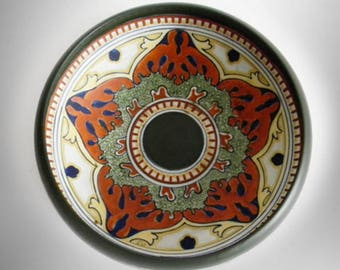 Nippon round hand painted bowl with stylized designs