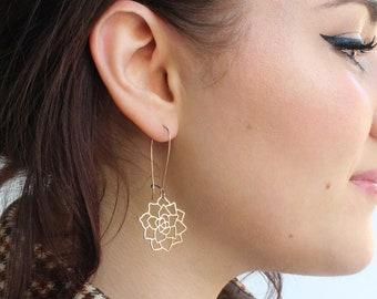 Succulent Earrings | Silver | ATL-E-223-S