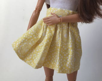 Yellow 1:6 scale doll skrit