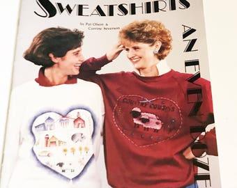Vintage Sweatshirt Traceable Pattern Book #09322 Sweatshirts An Even Dozen Book 6 Patterns by Pat Olson Corrine Severson Instructional Guide