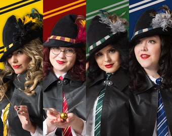 Hogwarts House Inspired Witch Hats
