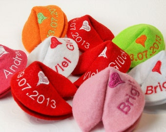 Embroidered Fortune Cookie for special moments
