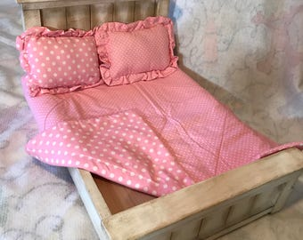 Polka Dots Big and Small Farmhouse Bed Bedding