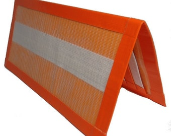 "Duct Tape Wallet Checkbook Style ""The Creamsicle"""