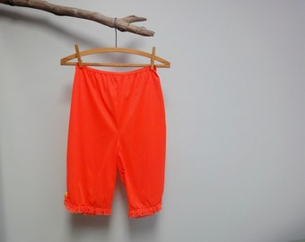 Vintage Vanity Fair Hot Tangerine 60's Petti Pants Knickers Size Small