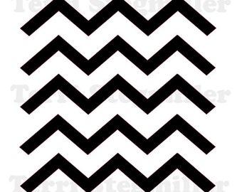 """Zigzag 6x6"""" Stencil"""