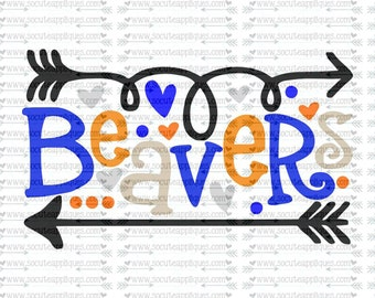 SVG, DXF, EPS Cut file, Beavers fun arrows svg, svg file socuteappliques, SvG Sayings, football svg, football sister svg, football mom svg