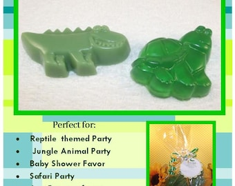 Alligator And Turtle Glycerin Soap Set, Reptile Birthday Party Favors, Alligator Baby Shower, Wedding Favor, Alligator Soap, Turtle Soap
