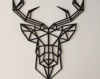 Geometric wooden deer