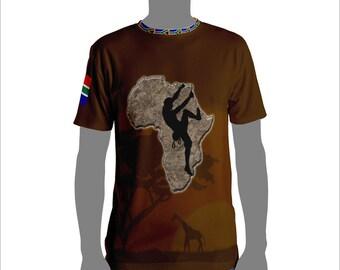 Africa Rock Climb Men's T-shirt rock climbing tops and tees Mountain Climbing