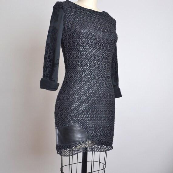 Mini Black Dress - OOAK Black Mini Dress - Night Out Black Dress - Night out Dress - Black Dresses - Size 4 Black Dress